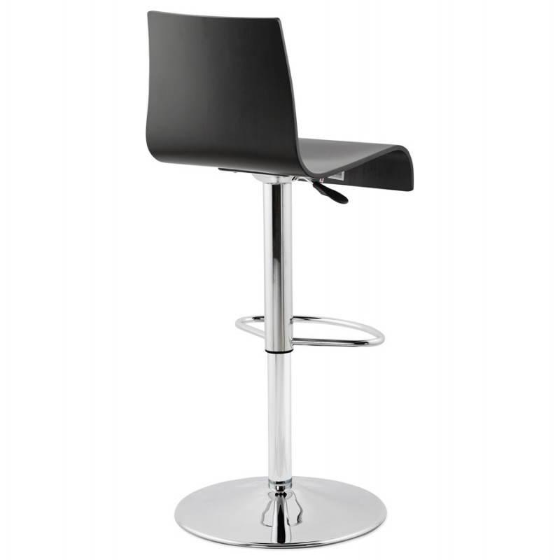 Tabouret de bar design VENISE en bois (noir) - image 22337