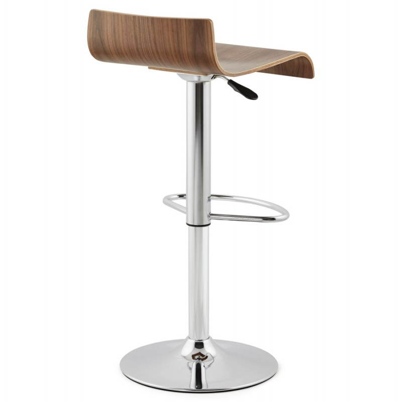 Tabouret de bar design ROME en bois (walnut) # Tabouret De Bar Design Bois