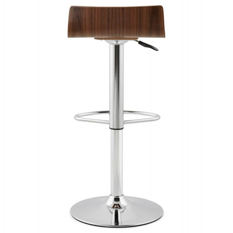 tabouret de bar design rome en bois walnut. Black Bedroom Furniture Sets. Home Design Ideas