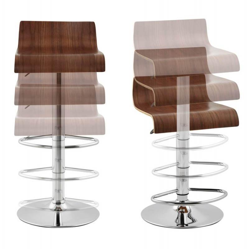 Tabouret de bar design ROME en bois (walnut) - image 22355
