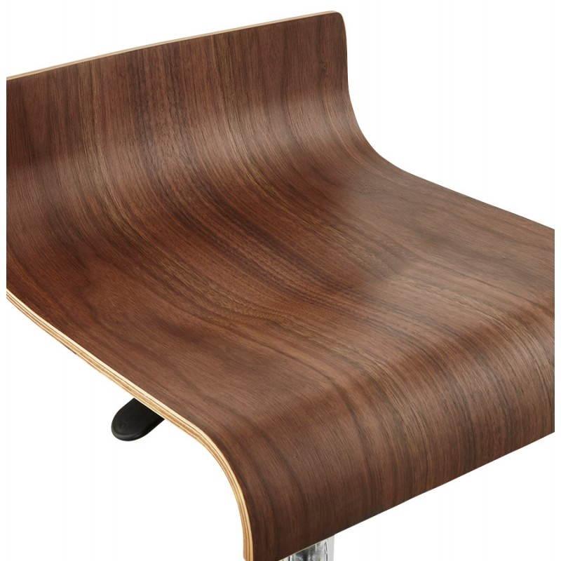 Tabouret de bar design ROME en bois (walnut) - image 22356