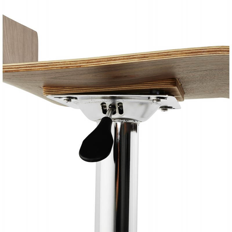 Tabouret de bar design ROME en bois (walnut) - image 22358