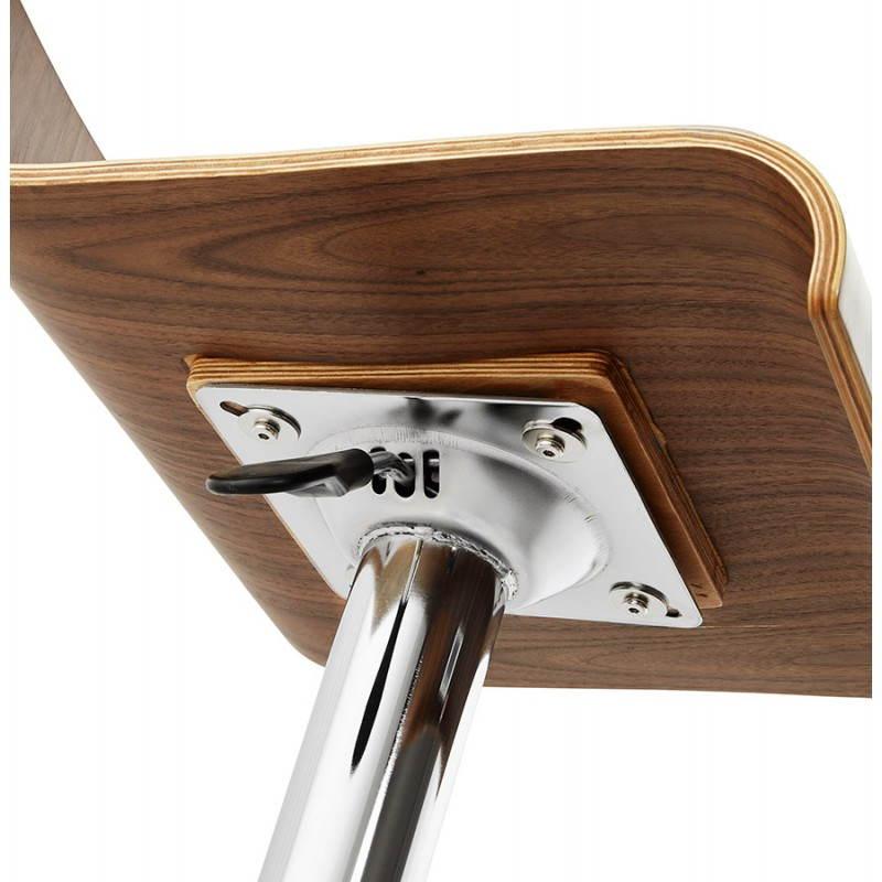Tabouret de bar design ROME en bois (walnut) - image 22359