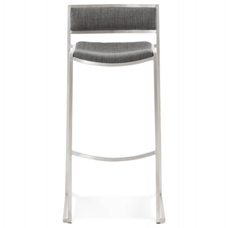 Tabouret de bar design SICILE en textile (gris) - image 22366