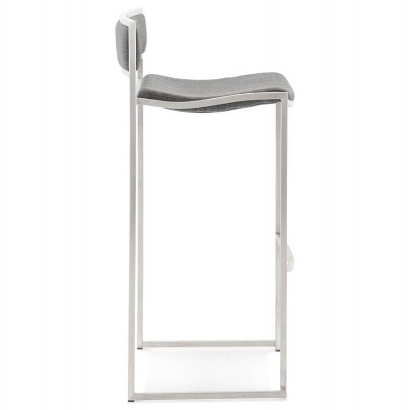 Tabouret de bar design SICILE en textile (gris) - image 22367