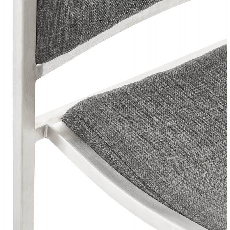 Tabouret de bar design SICILE en textile (gris) - image 22371