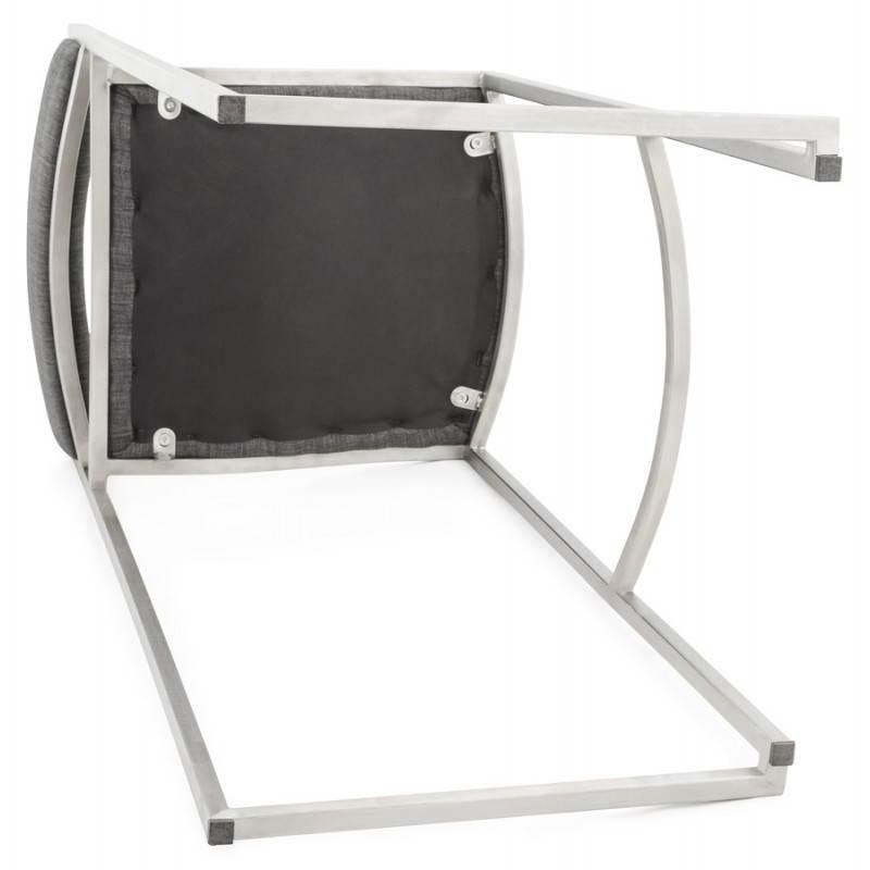 Tabouret de bar design SICILE en textile (gris) - image 22377
