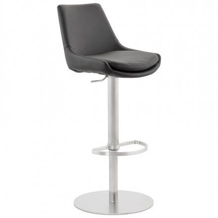 AMBRE rotating and adjustable design bar stool (black)