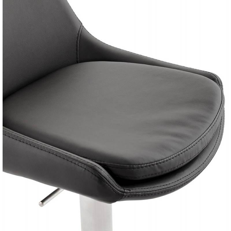Diseño taburete de la barra de AMBER giratorio y ajustable (negro) - image 22385