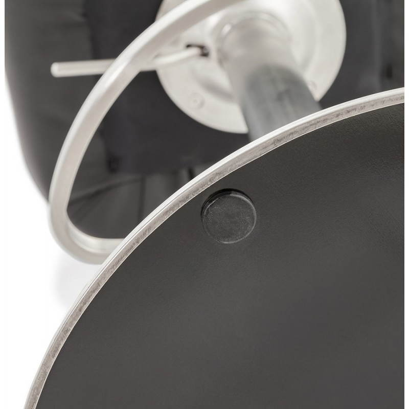 Tabouret de bar design AMBRE rotatif et réglable (noir) - image 22391