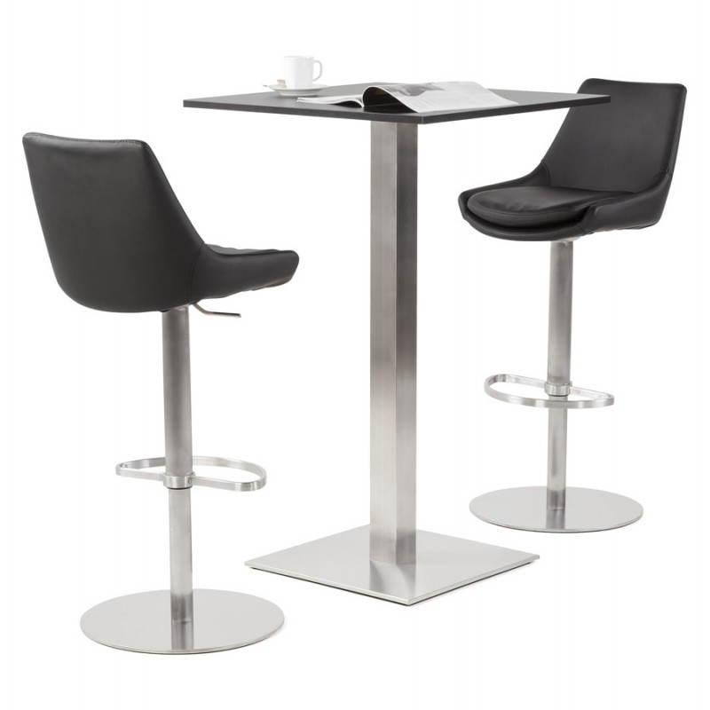 AMBRE rotating and adjustable design bar stool (black) - image 22392