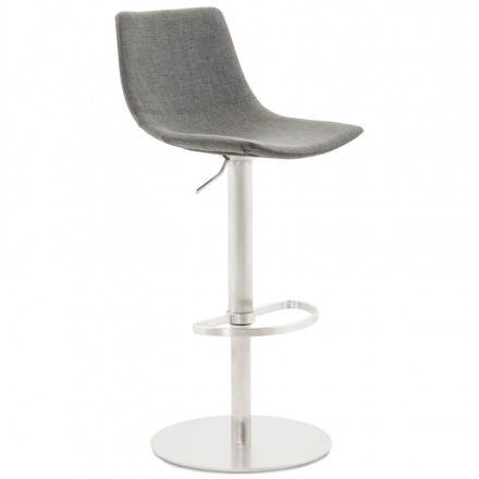 Bologna (grey) textile design bar stool