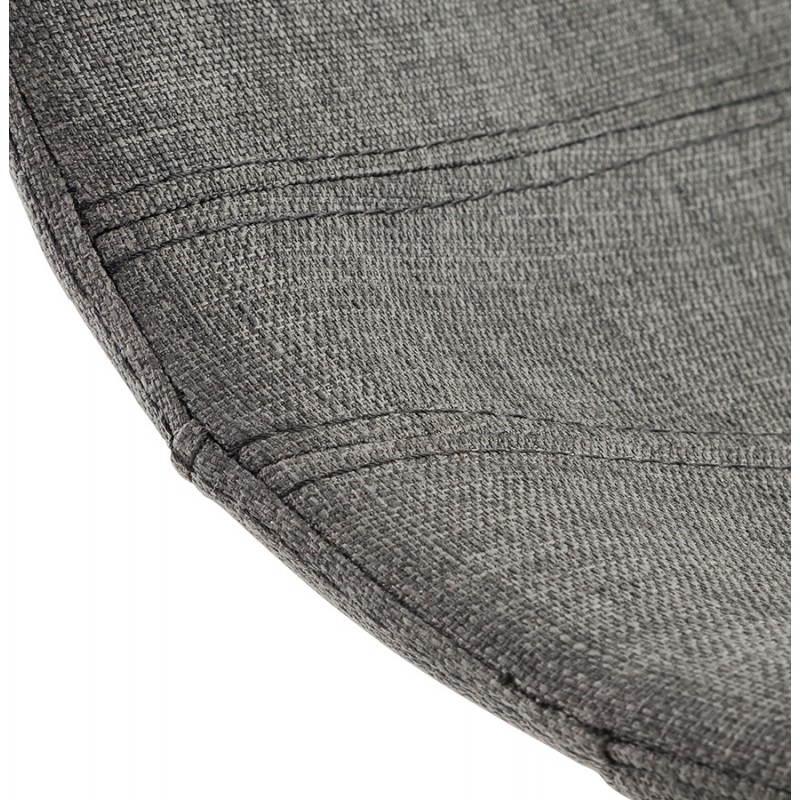 Tabouret de bar design BOLOGNE en textile (gris) - image 22403