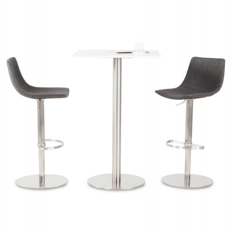 tabouret de bar design bologne en textile gris. Black Bedroom Furniture Sets. Home Design Ideas