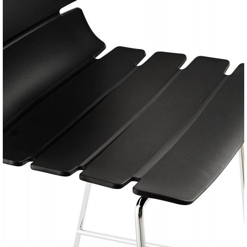 Tabouret de bar design BRIO en polypropylène (noir) - image 22435