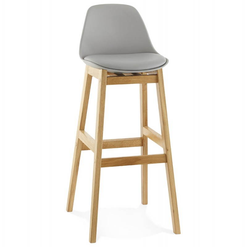 tabouret de bar chaise de bar design scandinave florence gris. Black Bedroom Furniture Sets. Home Design Ideas