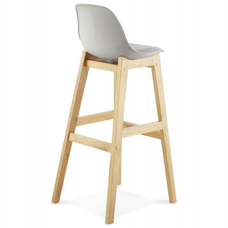 Tabouret de bar chaise de bar design scandinave florence gris for Siege de bar design