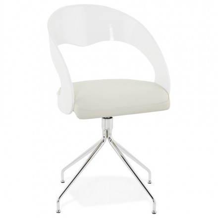 Chaise design et moderne VERONE pivotante (blanc)