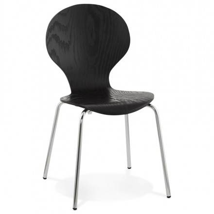Catania (black) wooden multipurpose chair