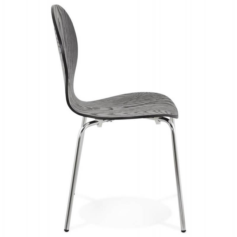 Chaise polyvalente CATANE en bois (noir) - image 22480
