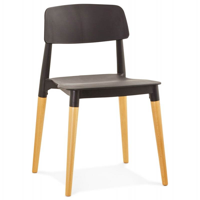 Chaise design style scandinave ASTI  (noir) - image 22615