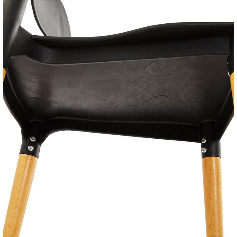 Chaise design style scandinave ASTI  (noir) - image 22633