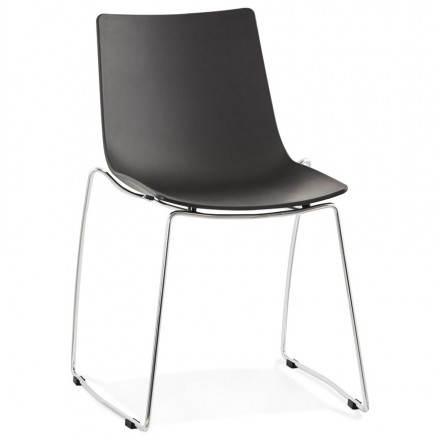 Design-Stuhl und moderne NAPLES (schwarz)