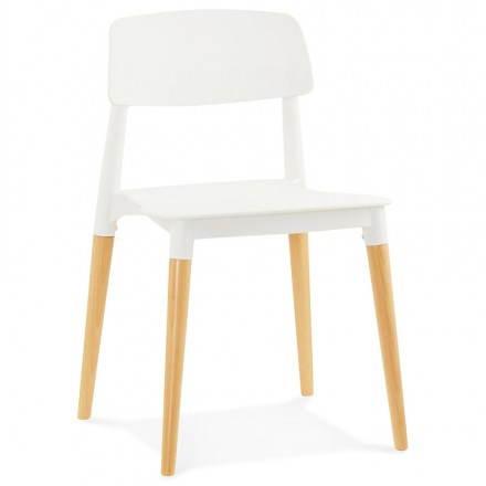 Diseño silla estilo escandinavo ASTI (blanco)