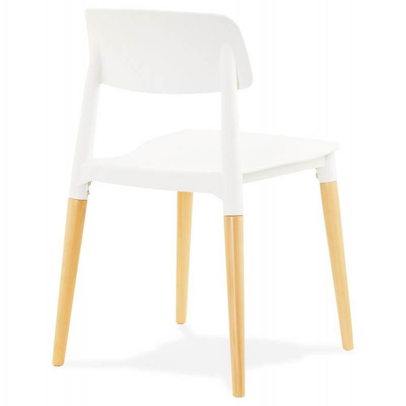 Chaise design style scandinave ASTI (blanc) - image 22736