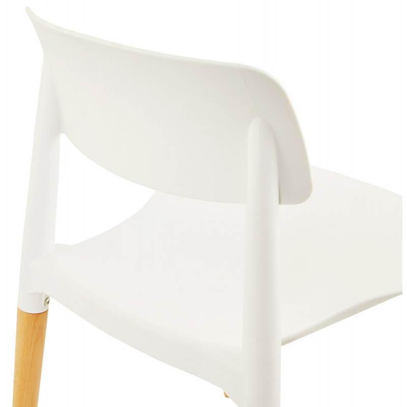 Chaise design style scandinave ASTI (blanc) - image 22740