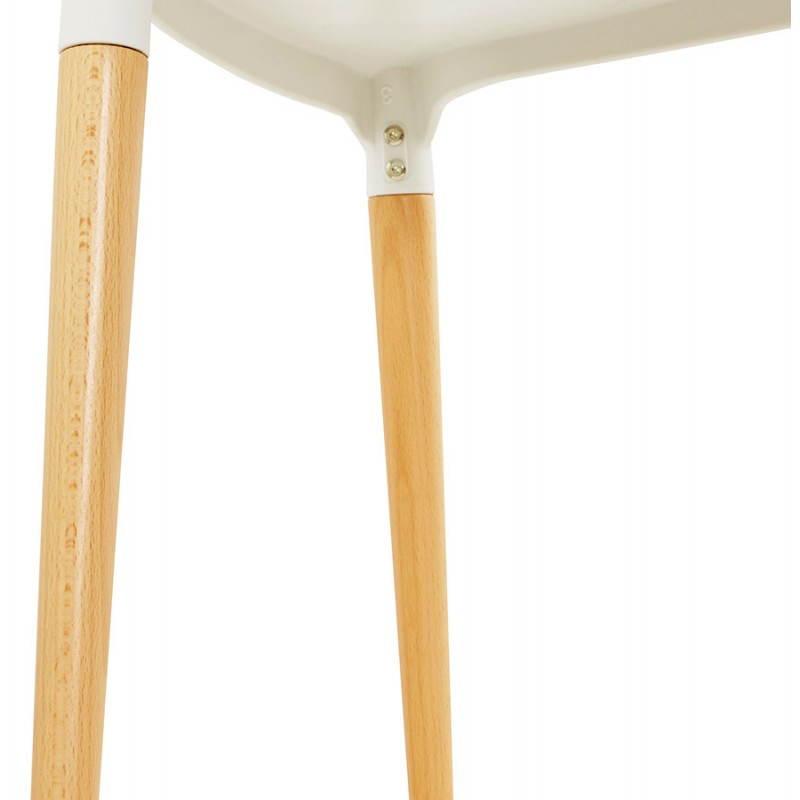 Chaise design style scandinave ASTI (blanc) - image 22741