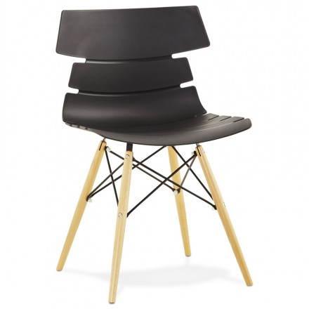 Estilo de silla original escandinavo CONY (negro)