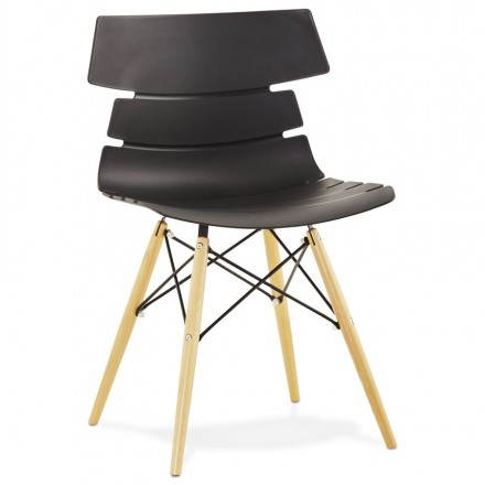 Original Stuhl Stil skandinavischen CONY (schwarz)