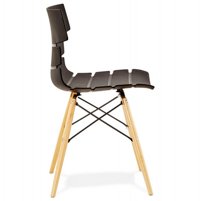 Chaise originale style scandinave CONY (noir) - image 22749