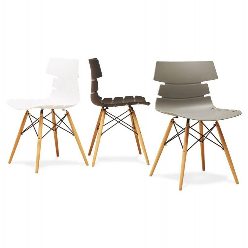 Chaise originale style scandinave CONY (noir) - image 22761