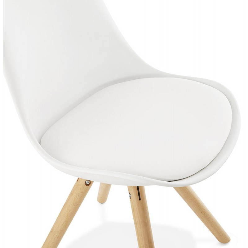 Chaise moderne style scandinave NORDICA (blanc) - image 22798