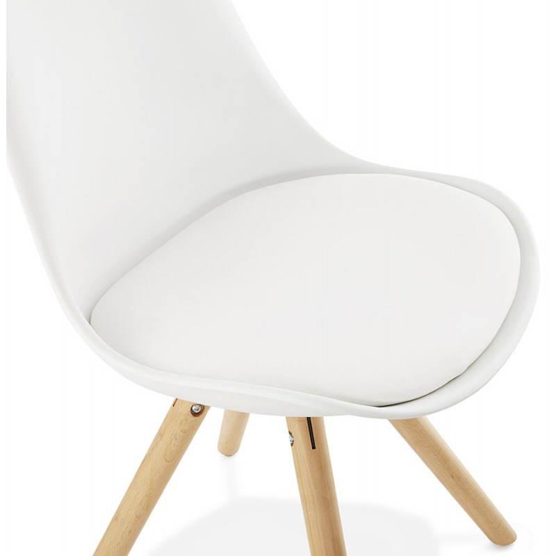 Moderner Stuhl Stil skandinavischen NORDICA (weiß) - image 22798