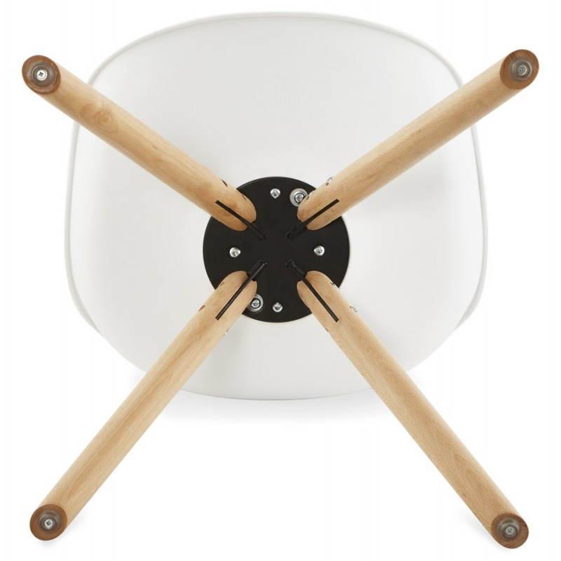 Sedia moderna stile scandinavo NORDICA (bianco) - image 22805