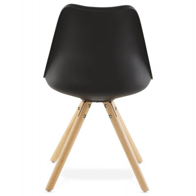 Estilo moderno de la silla NORDICA escandinava (negro) - image 22811