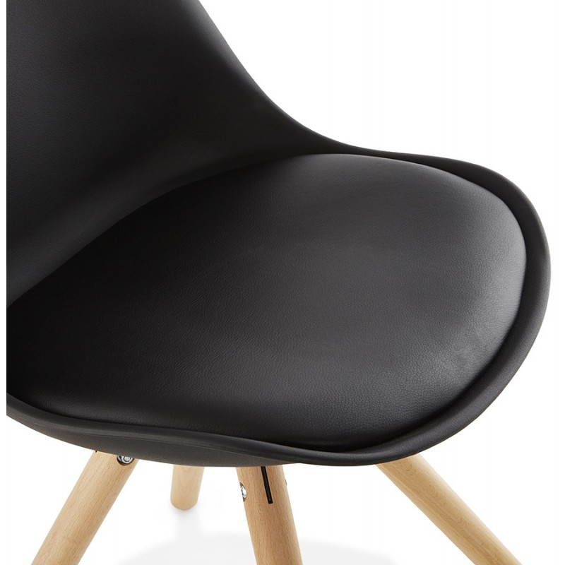 Chaise moderne style scandinave NORDICA (noir) - image 22812