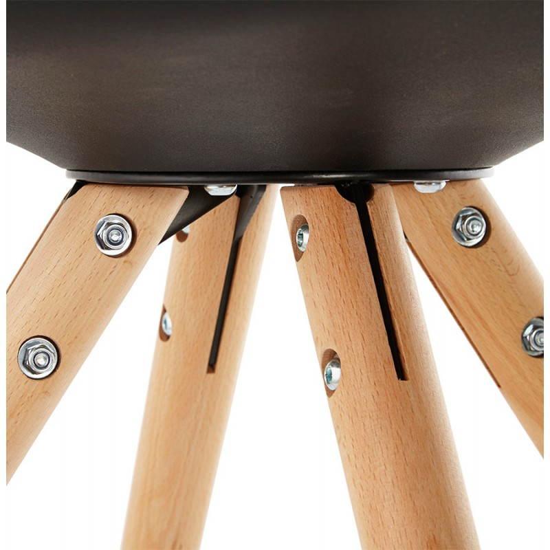 Estilo moderno de la silla NORDICA escandinava (negro) - image 22815