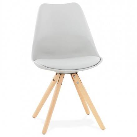 Estilo moderno de la silla NORDICA escandinava (gris)