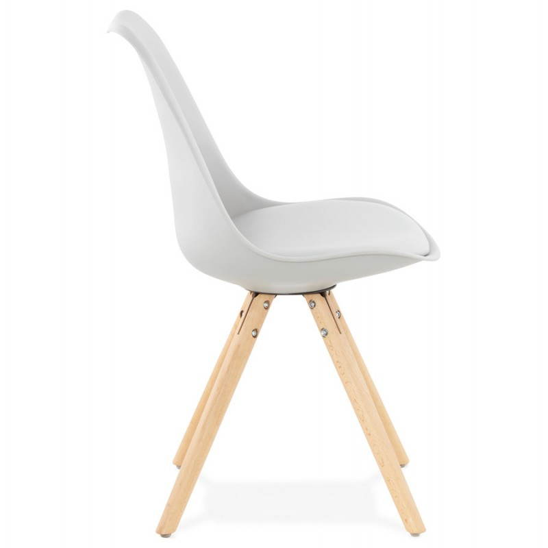 Chaise moderne style scandinave nordica gris - Chaise moderne ...