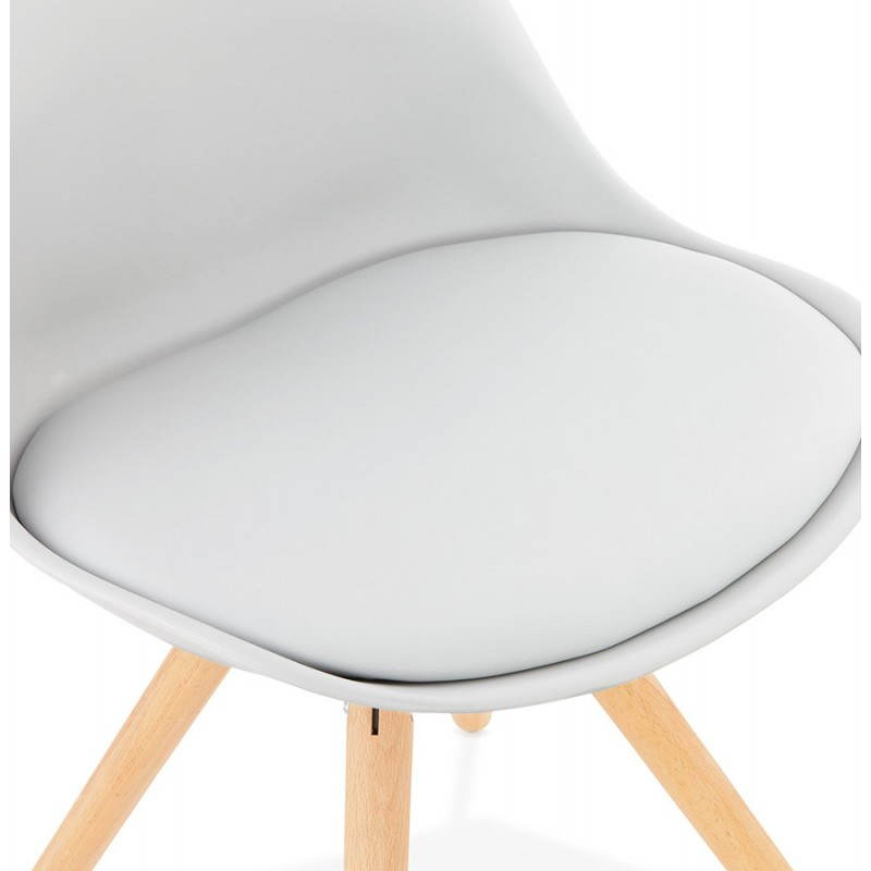 Chaise moderne style scandinave NORDICA (gris) - image 22828