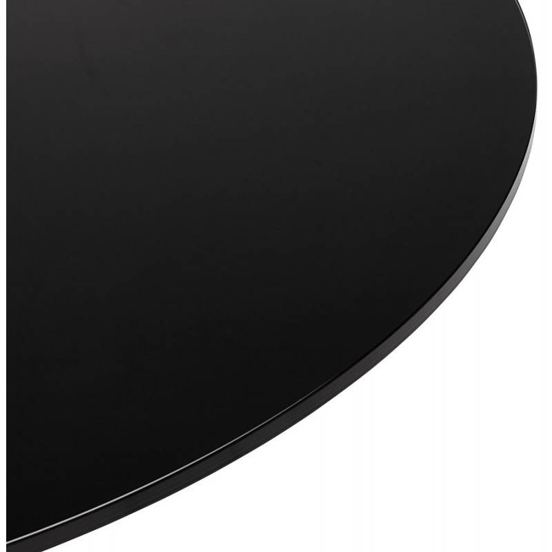 Table design ronde MILAN en verre et métal (Ø 100 cm) (noir) - image 22876
