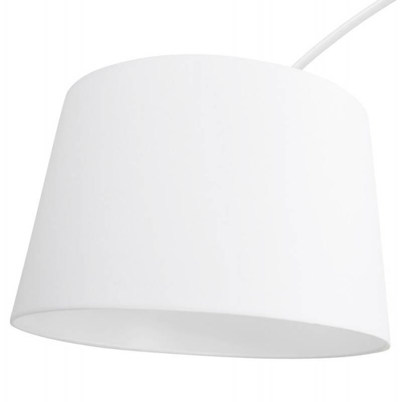 Lampe sur pied design AVERSA tissu (blanc) - image 22906