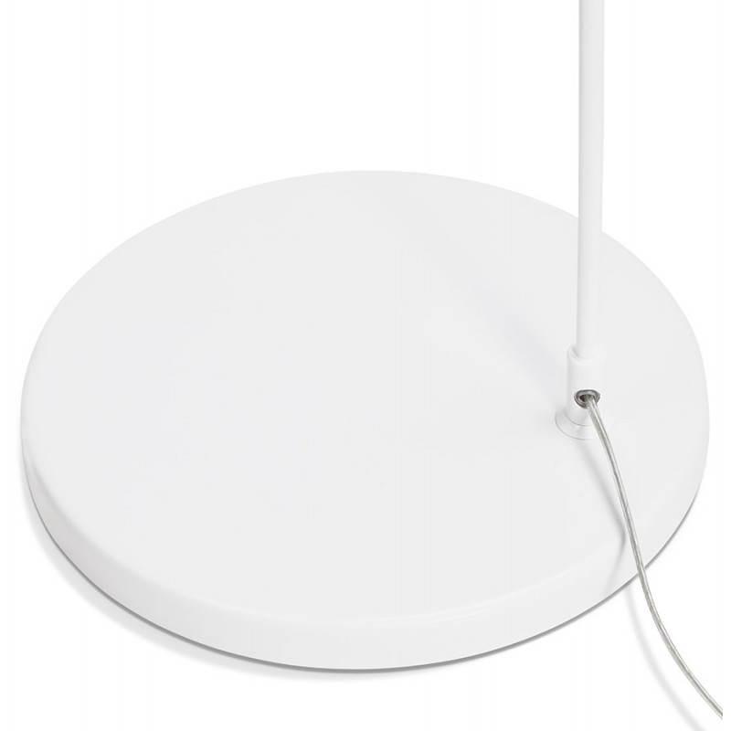 Lampe sur pied design AVERSA tissu (blanc) - image 22914