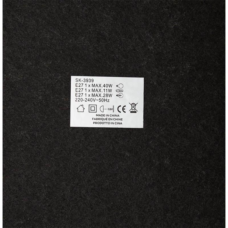 Lampe sur pied design AVERSA tissu (blanc) - image 22920