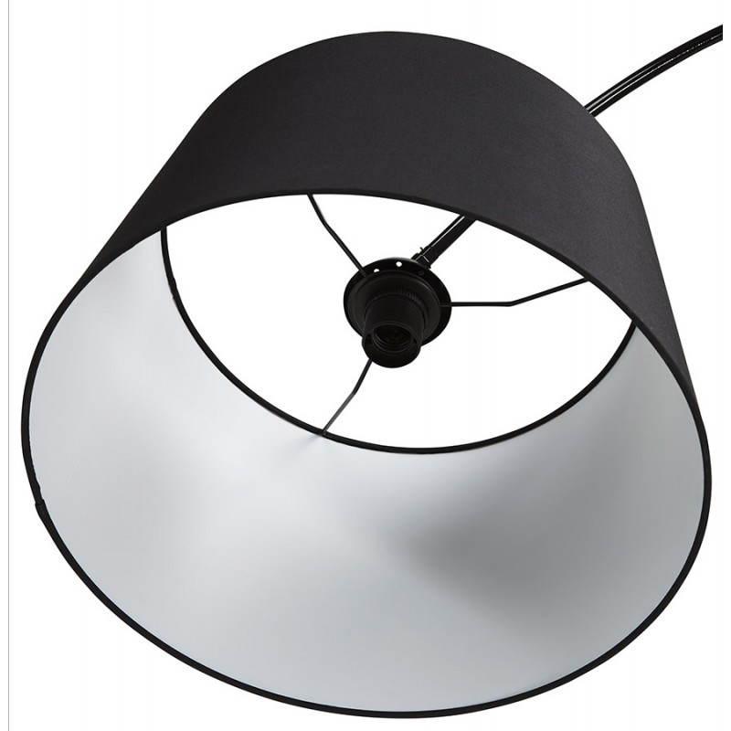 Lampada design tessuto AVERSA (nero) del piede - image 23017