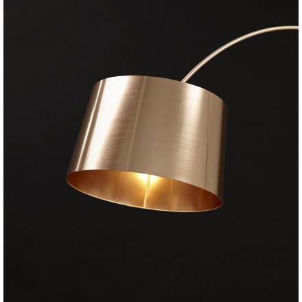 lampe sur pied de style industriel turin cuivre. Black Bedroom Furniture Sets. Home Design Ideas